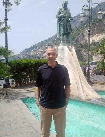Tom Novembrino by the pool