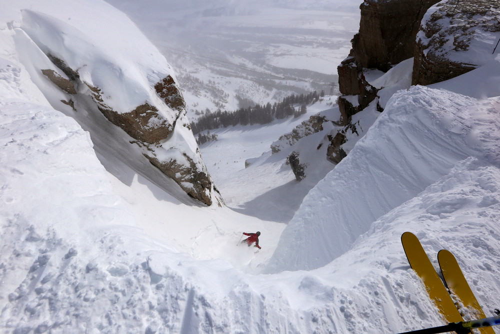 Corbet's Couloir, Jackson Hole, Wyoming